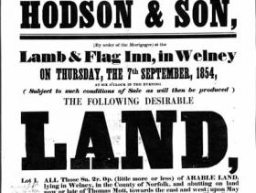 1854 Sale Poster